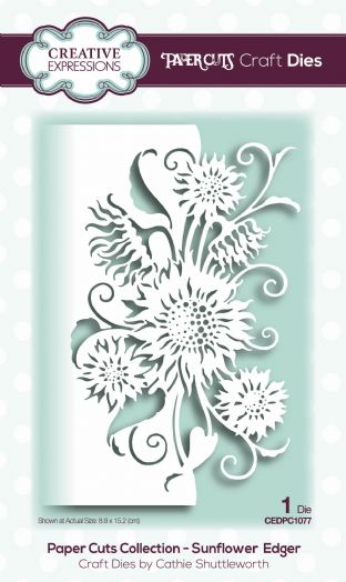 Paper Cuts Collection - Sunflower Edger Craft Die